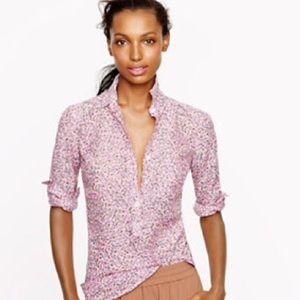 J Crew popover blouse